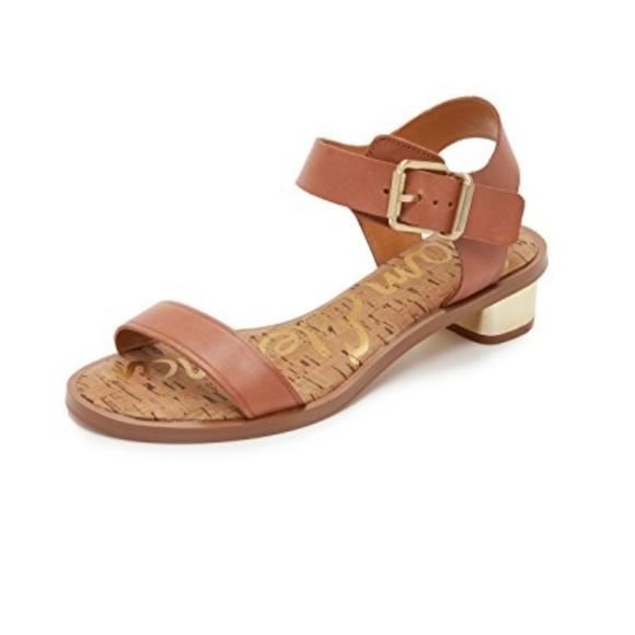 79690667b7cf Sam Edelman Trixie sandals cognac gold heel